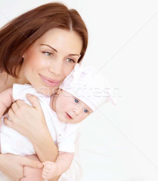 Pasgeboren gezonde zuigeling moeder mooie genieten Stockfoto © Anna_Om