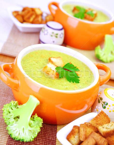 ストックフォト: おいしい · クリーム · スープ · ブロッコリー · 食品 · 健康