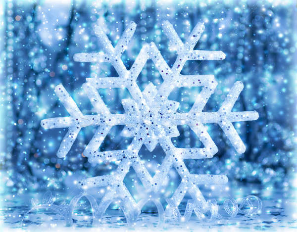 Stock photo: Abstract snowflake background