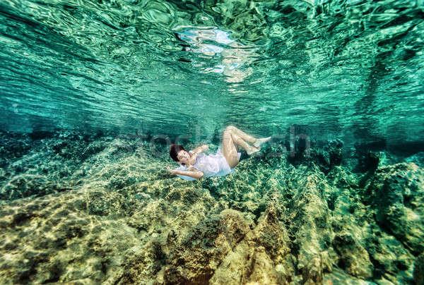 Dancing underwater Stock photo © Anna_Om