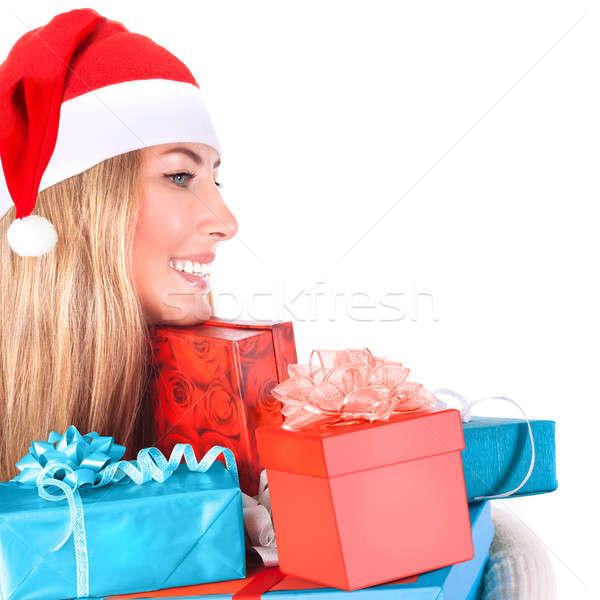 Sevimli yardımcı çok hediye kutuları Stok fotoğraf © Anna_Om