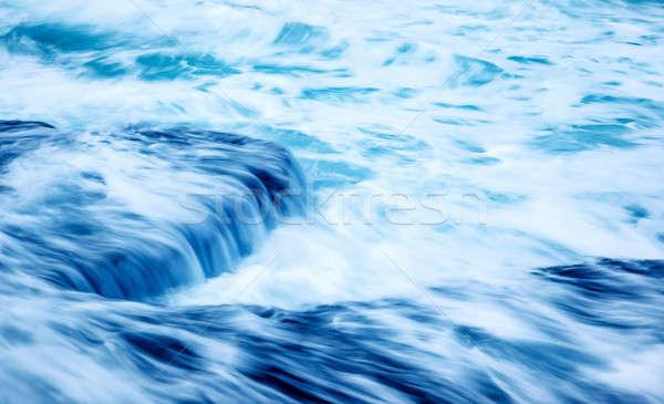 замедлять движения волны красивой бурный морем Сток-фото © Anna_Om