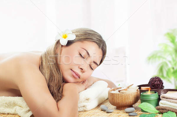 Woman relaxing at spa Stock photo © Anna_Om