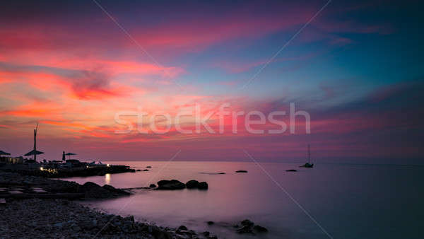 Beautiful pink sunset landscape Stock photo © Anna_Om