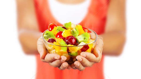 Saudável salada de frutas fresco verão Foto stock © Anna_Om