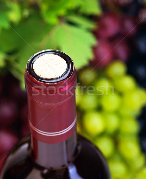 コルク ワインボトル 画像 ブドウ 高級 ブドウ ストックフォト © Anna_Om