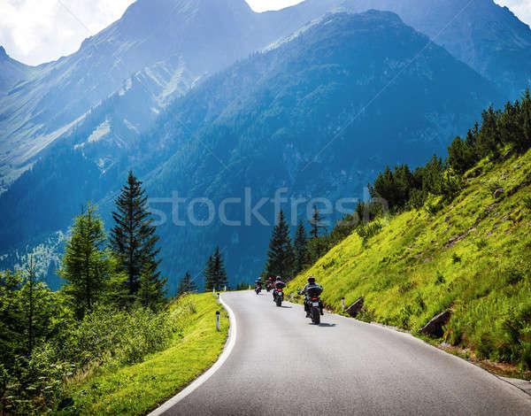 Stock fotó: Moto · út · lovaglás · vezetés · motorkerékpár · nyár