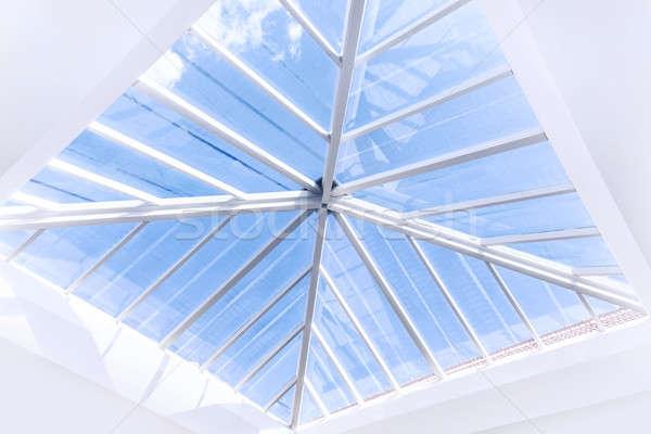 Stock photo: Glass roof design
