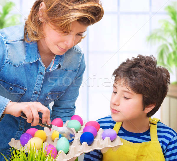 Happy Easter tradition Stock photo © Anna_Om
