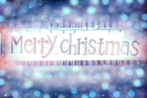 Merry christmas background Stock photo © Anna_Om