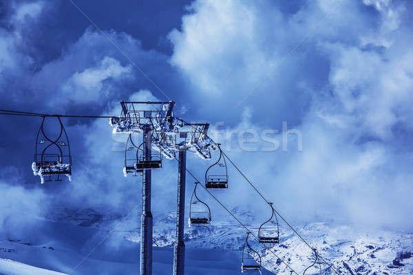 Esquiar foto luxo recorrer montanhas ativo Foto stock © Anna_Om