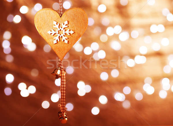 Christmas heart shaped decoration  Stock photo © Anna_Om