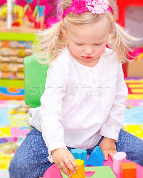 Baby girl in daycare Stock photo © Anna_Om