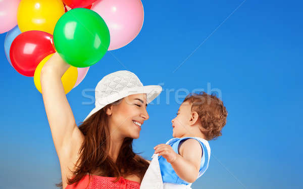 Happy mother with little son Stock photo © Anna_Om