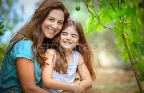 Happy mother and daughter portrait Stock photo © Anna_Om