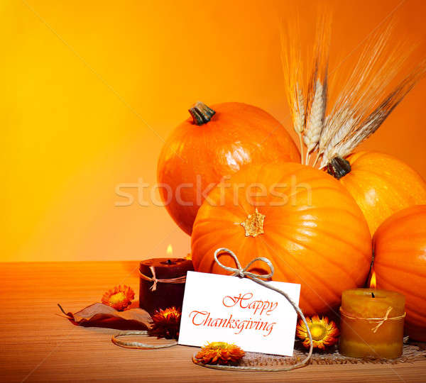 Thanksgiving holiday decoration border Stock photo © Anna_Om