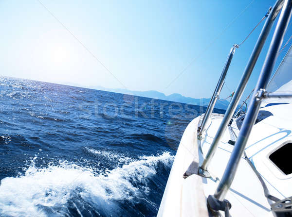 Luxe yacht photo pied voilier action Photo stock © Anna_Om