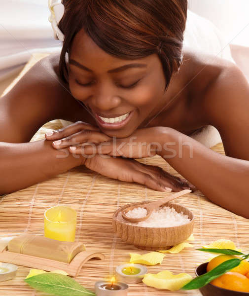African woman on massage table Stock photo © Anna_Om