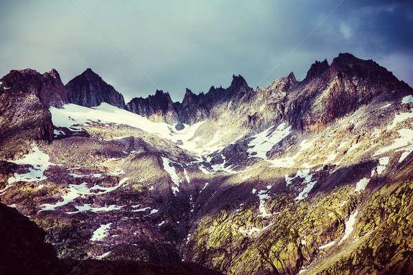 Fenséges tájkép gyönyörű magas Alpok nyár Stock fotó © Anna_Om