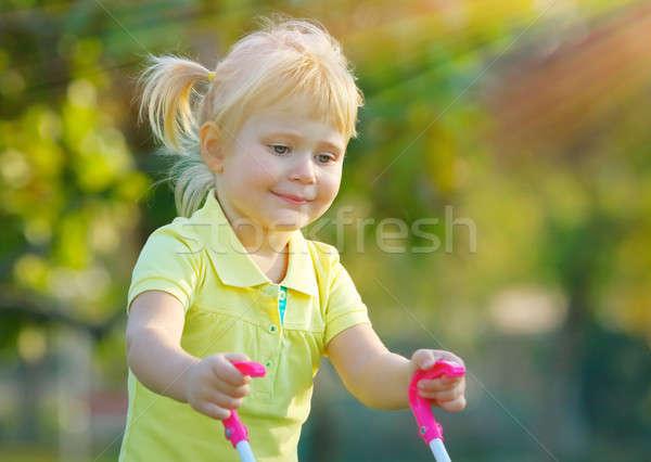 Cute baby girl Stock photo © Anna_Om
