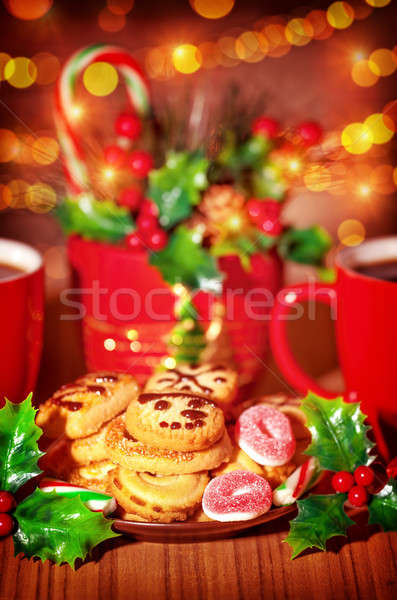 Christmas table of sweets Stock photo © Anna_Om