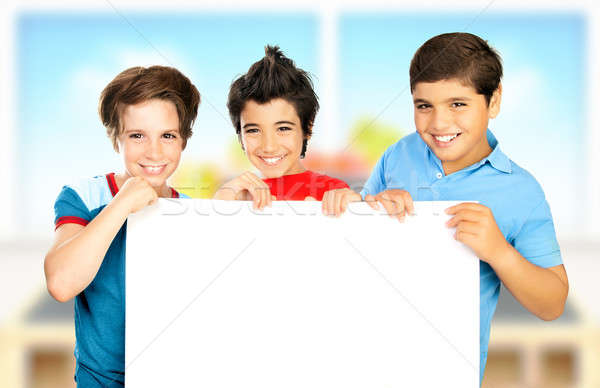 Stok fotoğraf: üç · erkek · sınıf · beyaz · temizlemek