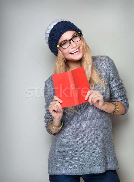 Happy student girl Stock photo © Anna_Om