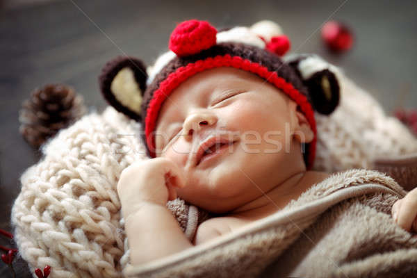 Little baby sleeping in Christmas costume Stock photo © Anna_Om