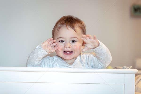 Boldog kicsi gyermek portré aranyos baba Stock fotó © Anna_Om