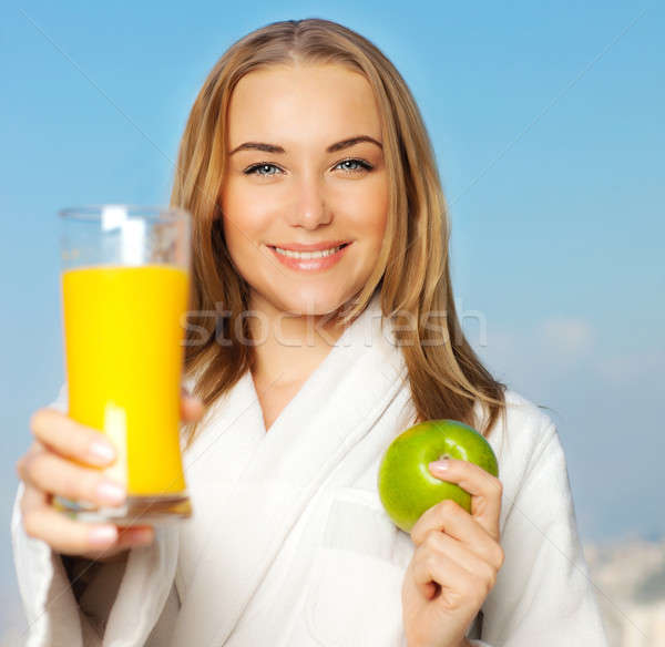 Healthy lovely young woman dieting  Stock photo © Anna_Om