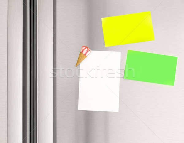 Sticky notes on the fridge Stock photo © Anna_Om