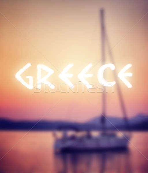 Vacances d'été Grèce soft accent luxe voilier Photo stock © Anna_Om