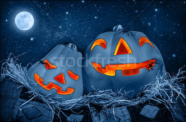 Creepy Halloween pumpkin Stock photo © Anna_Om