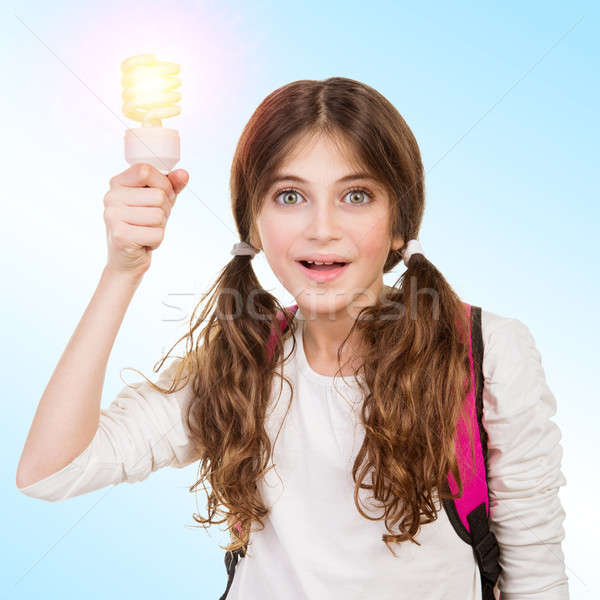 School girl with new idea Stock photo © Anna_Om