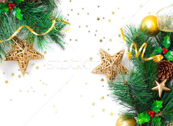 Christmastime border Stock photo © Anna_Om