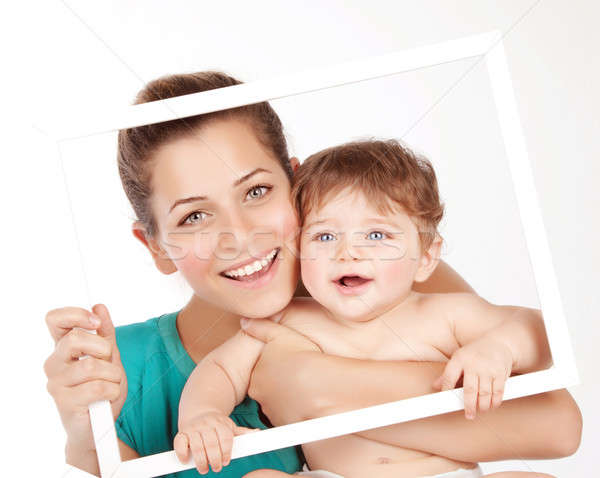 Lovely mom with baby boy Stock photo © Anna_Om