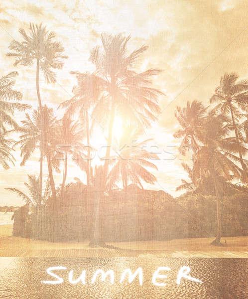 Vintage beach wallpaper Stock photo © Anna_Om