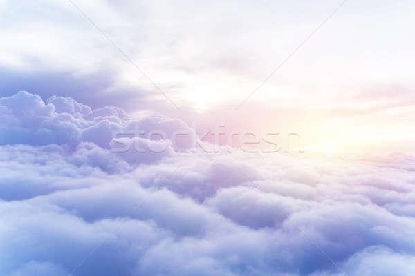 Soleado cielo resumen hermosa cielo Foto stock © Anna_Om