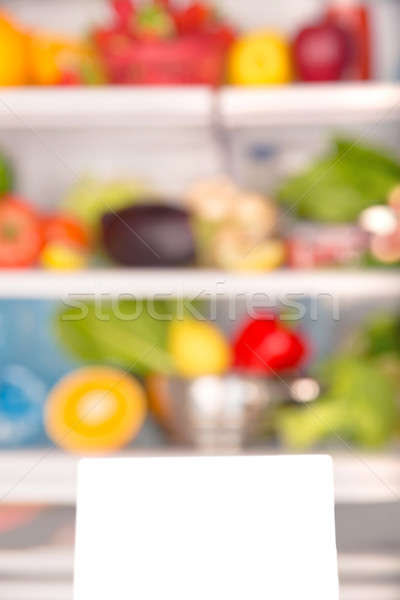 Saudável nutrição macio foco abrir geladeira Foto stock © Anna_Om
