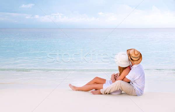 Honeymoon on Maldives Stock photo © Anna_Om