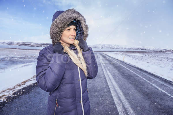 Woman travels to Iceland Stock photo © Anna_Om