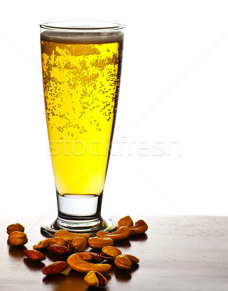 Beer and nuts Stock photo © Anna_Om