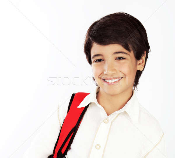 Portrait of happy schoolboy Stock photo © Anna_Om