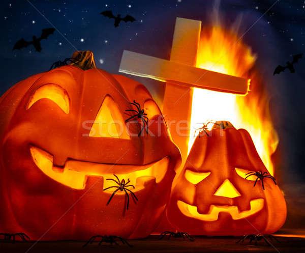 Stock photo: Mysterious Halloween night