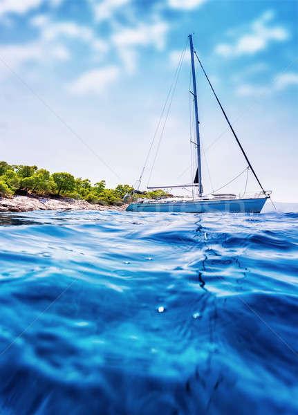 Luxury sailboat in the sea Stock photo © Anna_Om