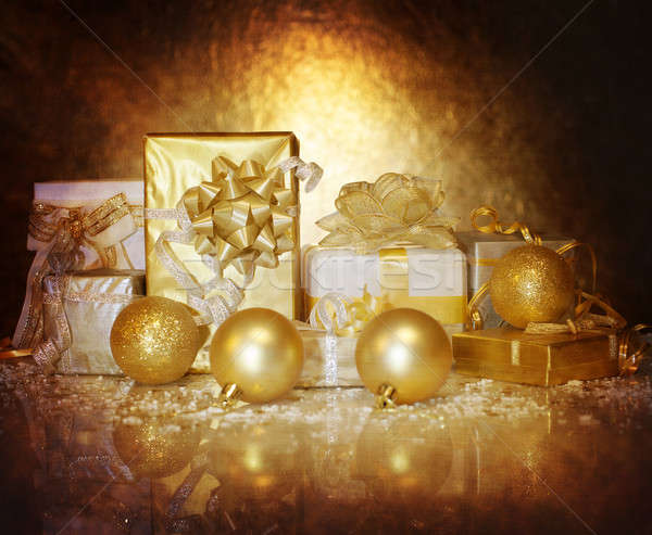 Christmastime gift boxes Stock photo © Anna_Om