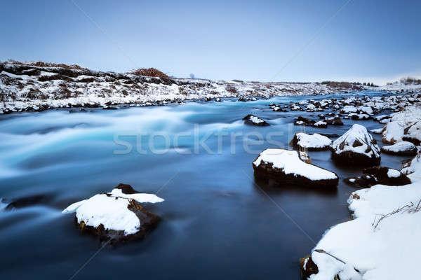 Congelato fiume panorama bella panoramica view Foto d'archivio © Anna_Om