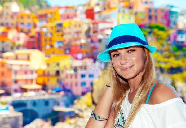 Traveler woman enjoying Italy Stock photo © Anna_Om