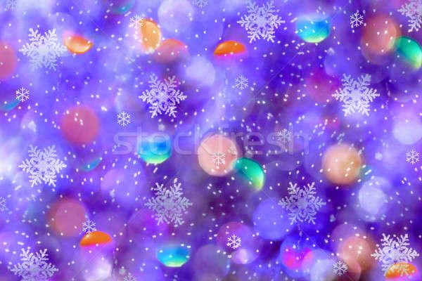 ünnep háttér mágikus fények fókusz textúra Stock fotó © Anna_Om