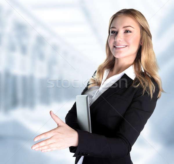 ストックフォト: ビジネスパートナー · クローズアップ · 肖像 · かわいい · 少女